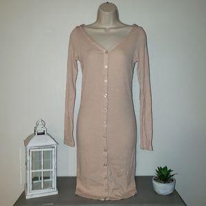 Monrow Henley Long Sleeve Dress